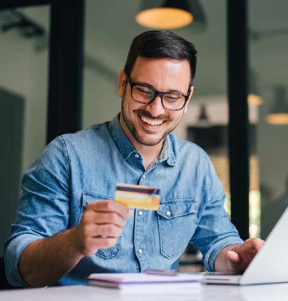 Consumer making a payment online