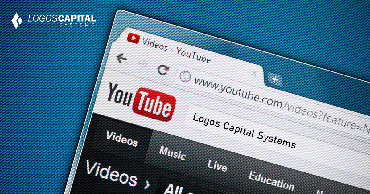 A close-up screenshot of YouTube website homepage. YouTube is the largest and most visited video-sharing website